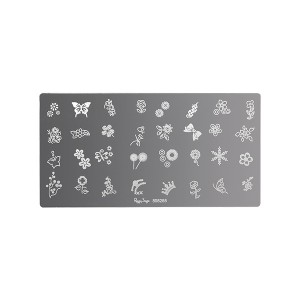 Plaque de stamping nail art Flowers