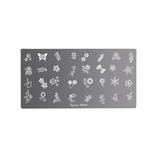 Peggy Sage Plaque de stamping nail art Flowers, Stamping Nail Art