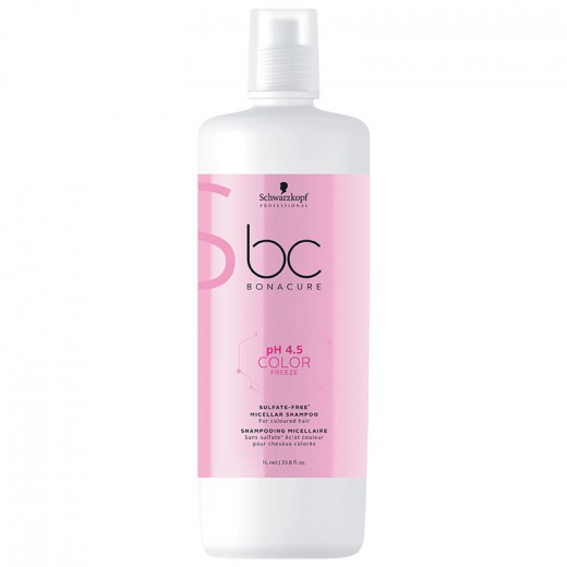Schwarzkopf Shampooing couleur micellaire sans sulfate pH4.5 Color Freeze 1000ML, Cosmétique