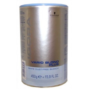 Schwarzkopf Poudre décolorante bleue Igora Vario, Crème éclaircissante