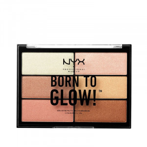NYX Professional Makeup Palette illuminatrice Born to glow! highlighting (6x4.8g), Palette teint