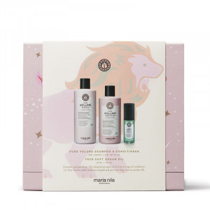 Maria Nila Holiday Box Pure Volume - Shampoing Conditioner & Huile, Coffret
