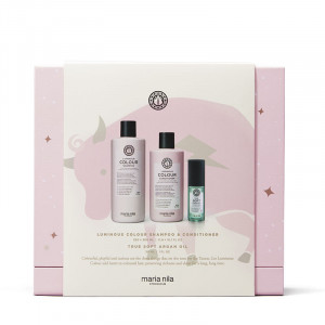 Maria Nila Holiday Box Luminous Colour - Shampoing Conditioner & Huile, Coffret