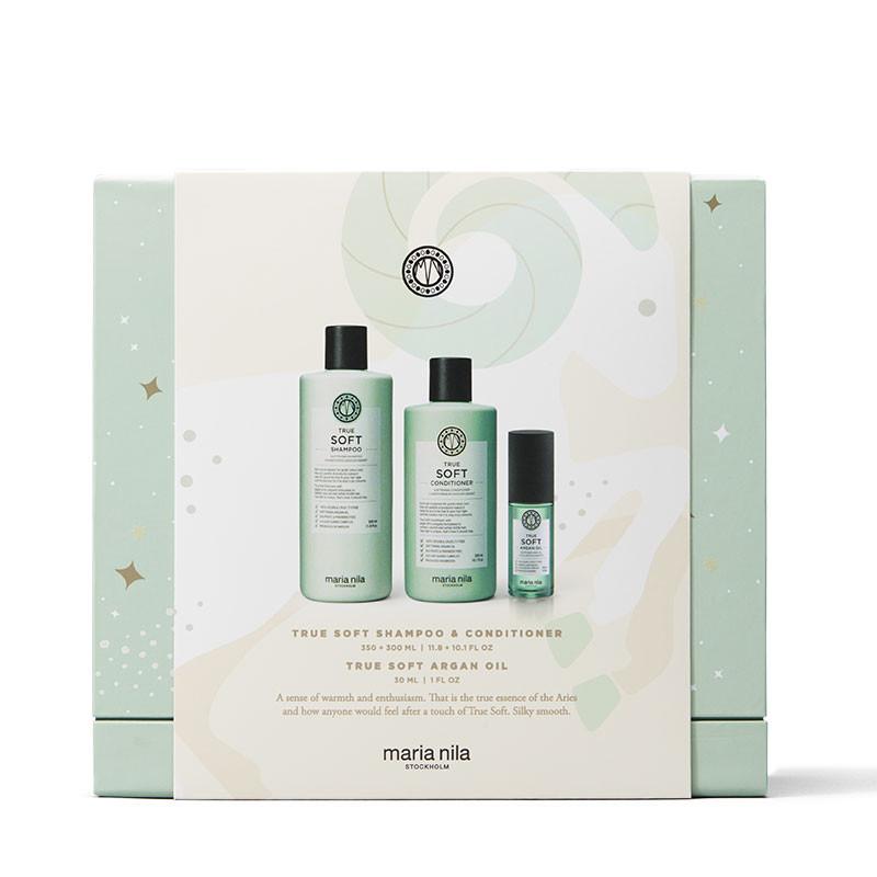 Maria Nila Holiday Box True Soft - Shampoing Conditioner & Huile, Coffret