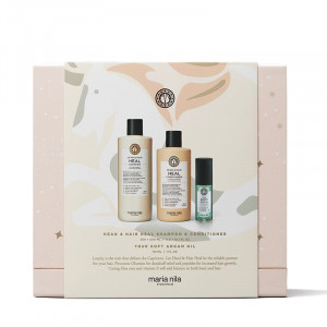 Maria Nila Holiday box Head & Hair Heal - Shampoing Condtioner & Huile, Coffret