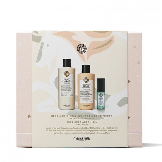 Maria Nila Holiday box Head & Hair Heal - Shampoing Condtioner & Huile, Coffret