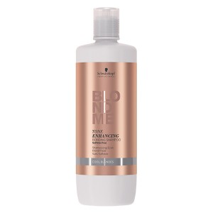 Schwarzkopf Shampooing éclat BlondMe Tone Ehnancing blond froid 1000ML, Shampoing repigmentant