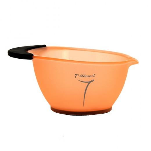 7eme élément Bol avec poignée en silicone Orange, Bol pour coloration
