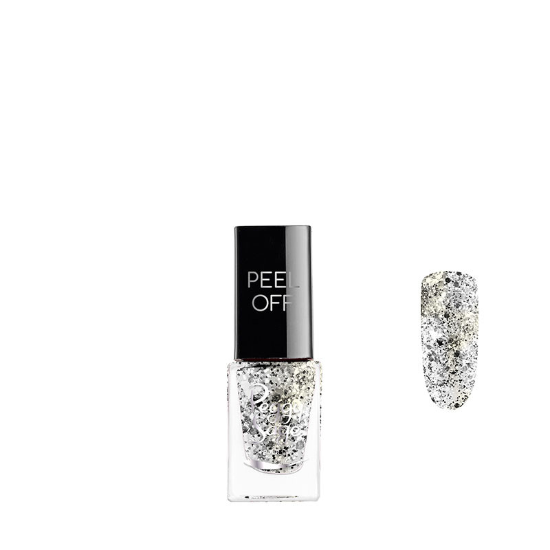 Peggy Sage Vernis à ongles Peel off Silver glitter 5ml 5ML, Vernis à ongles couleur