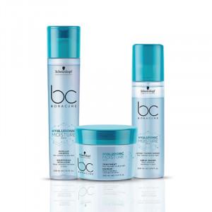 Schwarzkopf Professional Soins hydratants cheveux secs et cassants - routine Hyaluronic Moisture Kick 650ML, Cosmétique