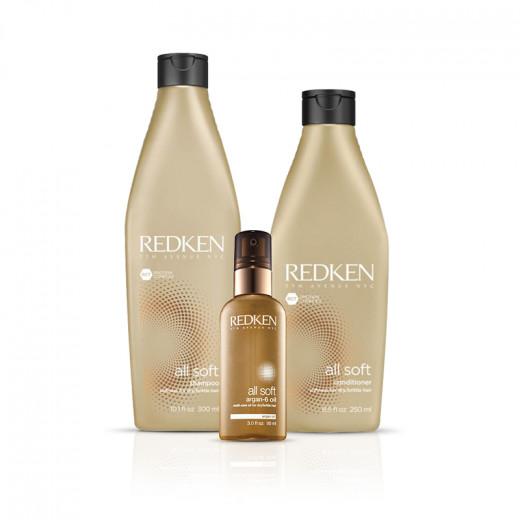 Redken Soins hydratants pour cheveux secs - routine All soft  640ML, Cosmétique