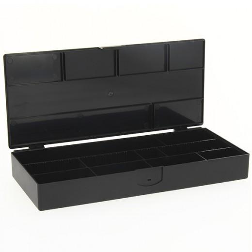 Boîte de rangement accessoires coiffure noire