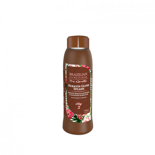 Brazilian Secrets Hair Keratin Gloss Splash - Step 2 Pro Keratin 500ML, Traitement kératine