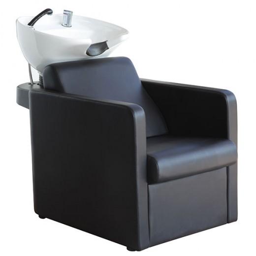 Coiffeo Bac à shampooing accoudoirs carrés, Bac à shampooing