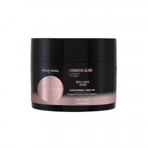 Eugène Perma Masque réparation brillance Keratin Glow Essentiel 500ML, Masque cheveux