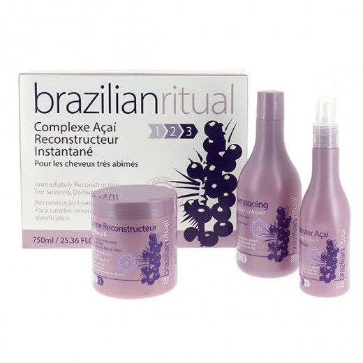 Brazilian Ritual kit  (Shampooing + masque + serum) 500 ml