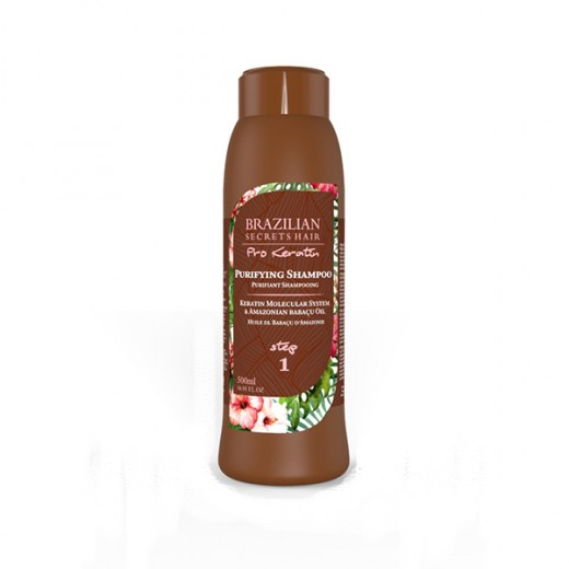 Shampooing purifiant Brazilian Secrets Hair Pro Keratin 500 ml