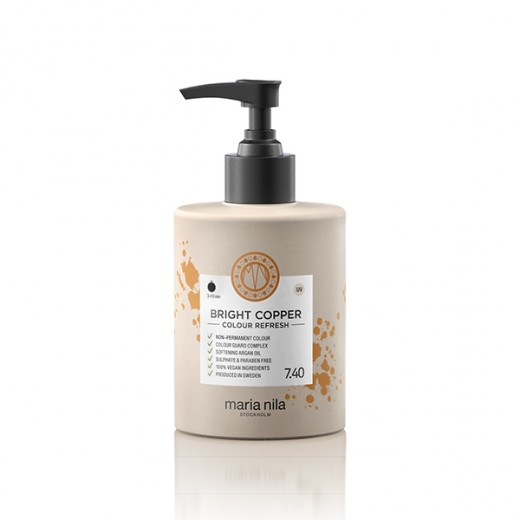 Maria Nila Masque repigmentant Colour Refresh 7.40 Bright copper 300ML, Après-shampoing repigmentant