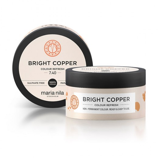 Maria Nila Masque repigmentant Colour Refresh 7.40 Bright copper 100ML, Après-shampoing repigmentant
