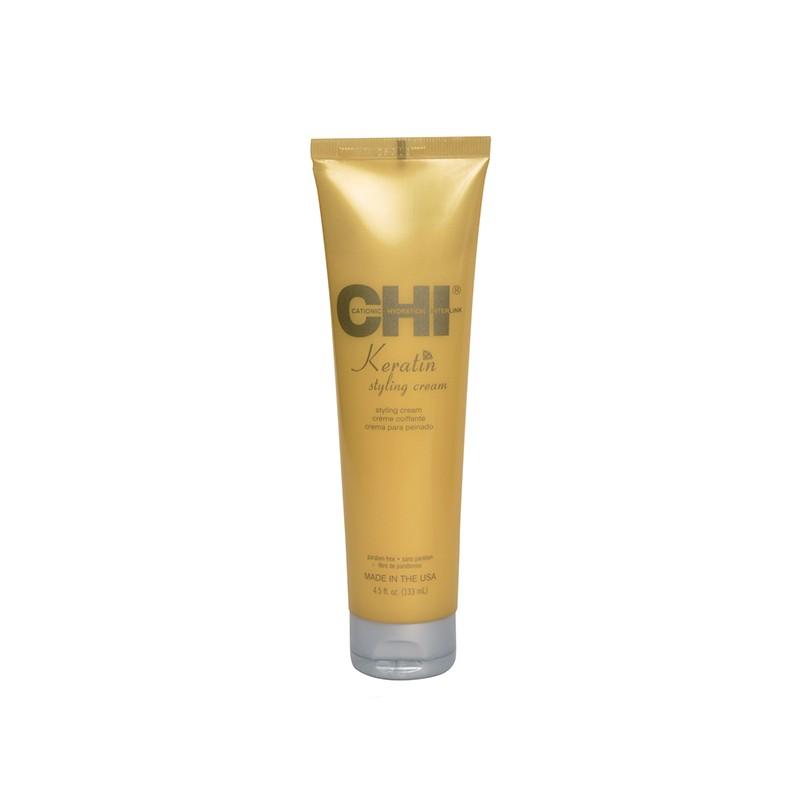 Chi Crème lissante Keratin 133ML, Crème cheveux sans rinçage