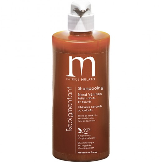 Mulato Shampooing Repigmentant Blond vénitien 500ML, Shampoing naturel