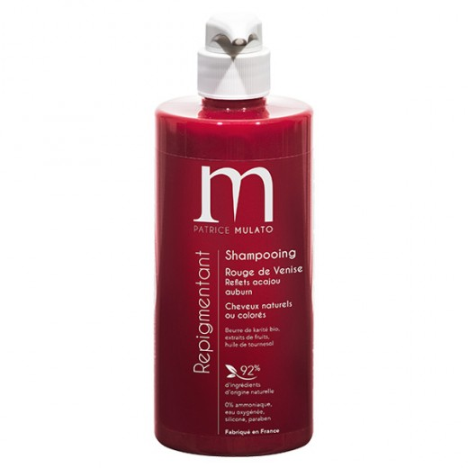 Mulato Shampooing Repigmentant Rouge venise 500ML, Shampoing naturel