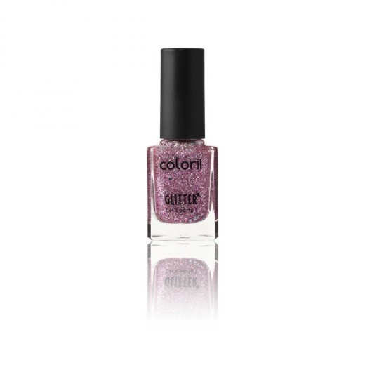 Vernis à ongles pailleté rose colorii 11ml