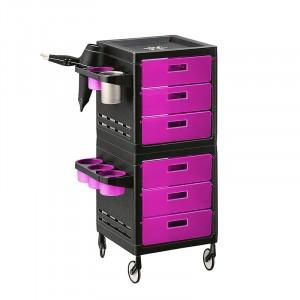 Ceriotti Table de service MY à roulettes noire et rose , Table de service & caisse